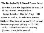 the decibel db sound power level