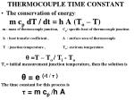 thermocouple time constant