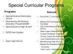 special curricular programs