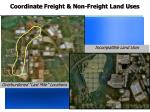 coordinate freight non freight land uses