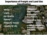importance of freight and land use coordination