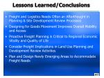 lessons learned conclusions