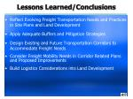 lessons learned conclusions1