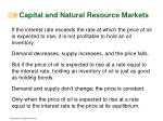 capital and natural resource markets12