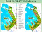 land cover types iii iv level in vilsandi 1986 and 1998