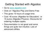 getting started with algodoo