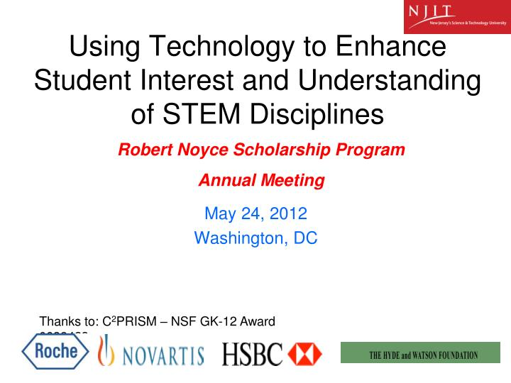 using technology to enhance student interest and understanding of stem disciplines n.