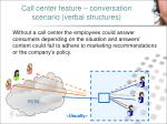 call center feature conversation scenario verbal structures