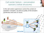 call center feature conversation scenario verbal structures1