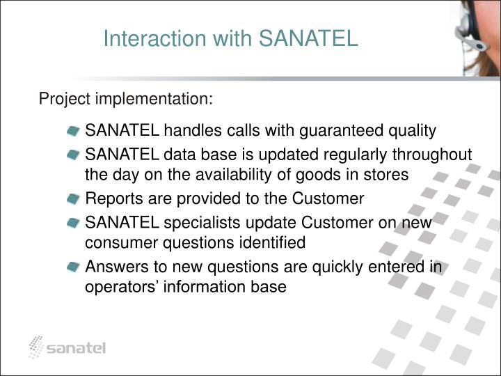 Interaction with SANATEL