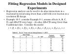 fitting regression models in designed experiments4