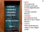 contents summary structure overview of this lecture part 1