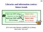 libraries and information centres future trends