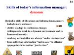 skills of today s information manager dynamic