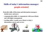 skills of today s information manager people oriented