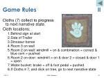 game rules ii