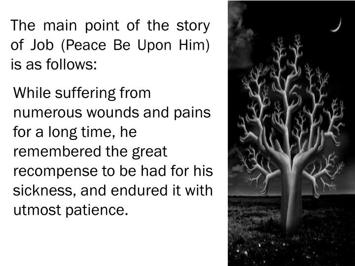 The main point of the story of Job (