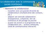 la collaboration avec la communaut savoirs d exp rience1