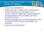 la culture organisationnelle en changement savoirs d exp rience