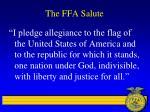 the ffa salute