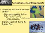 archeologists anthropologists