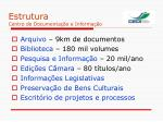 estrutura centro de documenta o e informa o