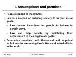 1 assumptions and premises