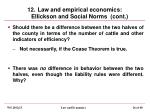 12 law and empirical economics ellickson and social norms cont