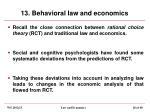 13 behavioral law and economics