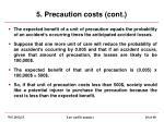 5 precaution costs cont