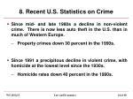 8 recent u s statistics on crime