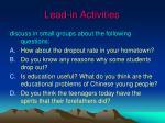 lead in activities4