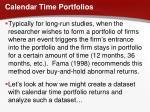 calendar time portfolios