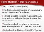 fama macbeth 1973 regressions