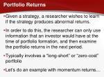 portfolio returns