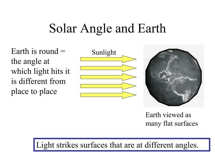 Solar Angle and Earth
