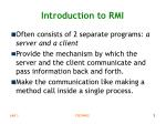introduction to rmi