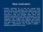 new motivation