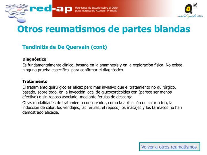 Tendinitis de De Quervain (cont)