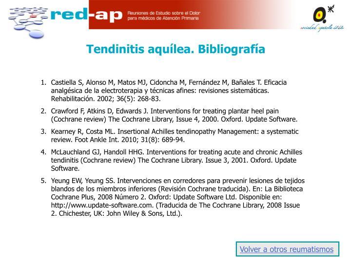 Tendinitis aquílea. Bibliografía