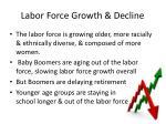 labor force growth decline