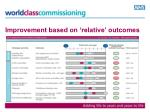 improvement based on relative outcomes
