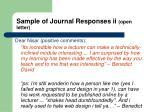 sample of journal responses ii open letter