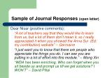 sample of journal responses open letter