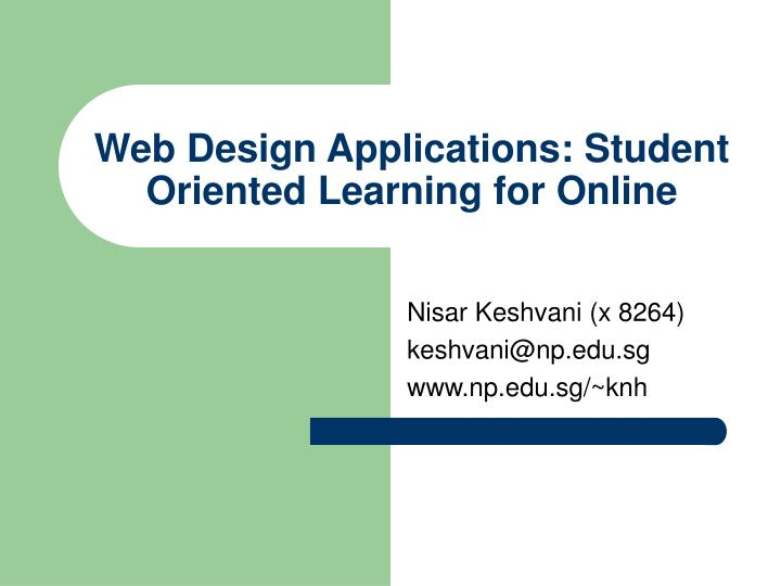 web design applications student oriented learning for online n.