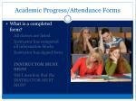 academic progress attendance forms1