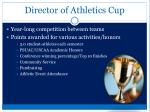director of athletics cup