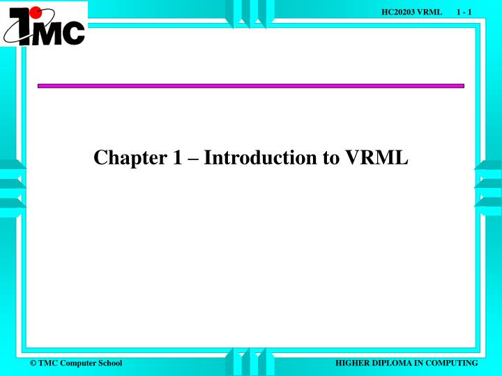 chapter 1 introduction to vrml n.