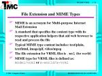 file extension and mime types