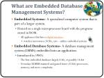 what are embedded database management systems